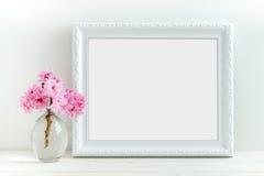 El flor rosado diseñó la fotografía común Foto de archivo libre de regalías