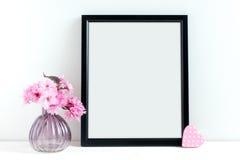 El flor rosado diseñó la fotografía común Imagenes de archivo