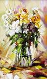 El florero con las flores Fotografía de archivo libre de regalías
