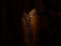El florero de oro Fotografía de archivo libre de regalías