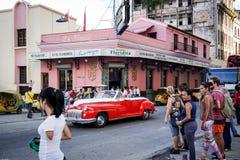 El Floridita酒吧在哈瓦那,古巴 免版税库存图片