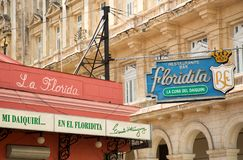EL Floridita στην Αβάνα στην Κούβα στοκ εικόνες