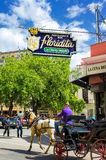 El Floridita restaurant in Havana. The Floridita restaurant and bar in Havana.The birthplace of daiquiri,El Floridita was a favorite of Ernest Hemingway and is Royalty Free Stock Image