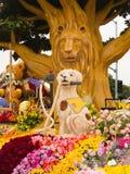 El flotador del tazón de fuente de Rose de los hospitales de Shriners Imagen de archivo