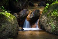 El fluir de la corriente de agua dulce Fotos de archivo libres de regalías