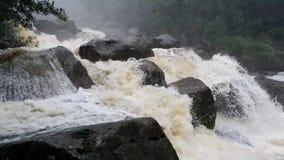 El fluir de la corriente del agua almacen de metraje de vídeo
