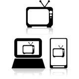 El fluir de la TV ilustración del vector