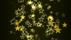 El fluir de las estrellas del centelleo al azar libre illustration