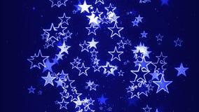 El fluir de las estrellas del centelleo al azar stock de ilustración