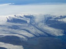 El fluir del glaciar Fotografía de archivo libre de regalías