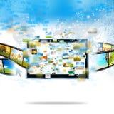 El fluir moderno de la televisión Imagen de archivo libre de regalías