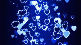 El fluir retro colorido de los corazones al azar ilustración del vector