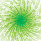 El fluir verde de la flecha Fotos de archivo libres de regalías