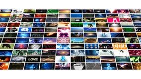 El fluir video de los medios de la pared (HD) stock de ilustración