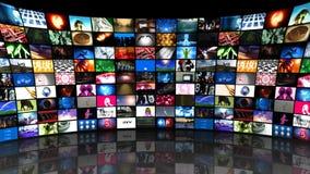 El fluir video de los medios de la pared (HD) ilustración del vector