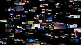 El fluir video de los medios de la pared (HD) libre illustration