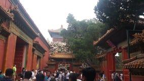 El flujo de la ciudad Prohibida, Pekín, China fotos de archivo