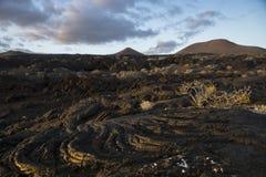 El flujo de lava Fotografía de archivo libre de regalías