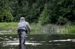 El Fly-fishing Foto de archivo