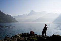 El Fly-fishing Imagen de archivo