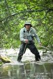 El Fly-fishing Fotografía de archivo libre de regalías