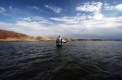 El Flyfishing Foto de archivo libre de regalías