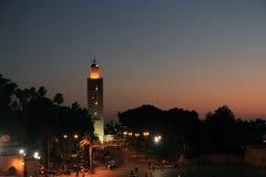 EL Fna de Djeema la nuit, Marrakech Photos libres de droits