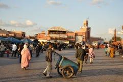 EL Fna de Djemaa à Marrakech Images libres de droits