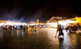 EL Fna de Djemma na noite O mercado principal em C4marraquexe Foto de Stock