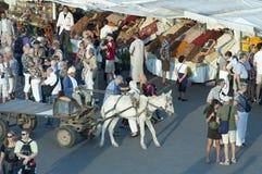 EL Fna de Jamaa en Marrakesh Imagenes de archivo