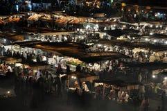 EL Fna, Marrakech de Djemaa Image stock