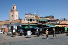 EL Fna Marrakech de Jamaa Photographie stock