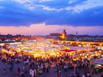EL Fna, Marrakech de Jamaa Photo stock