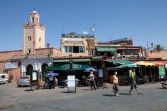 EL Fna Marrakesh de Jamaa Fotografía de archivo