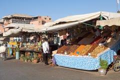 EL Fna Marrakesh de Jamaa Fotos de archivo libres de regalías
