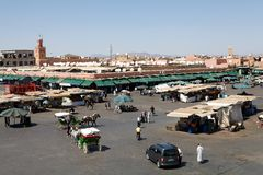 EL Fna Marrakesh de Marruecos Jamaa Fotografía de archivo