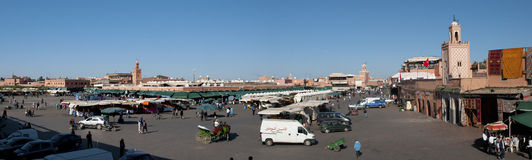 el fna Marrakesh Morocco miejsce Fotografia Royalty Free
