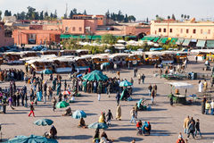El Fna square - Morocco Royalty Free Stock Photos