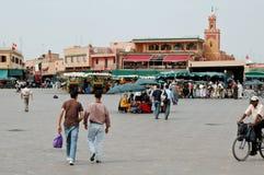 EL-Fnaa Medina de Jemaa de Marrakesh, Marruecos Fotos de archivo libres de regalías
