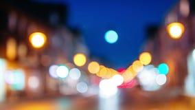 El foco cambiante se distancia lapso de tiempo de la ciudad europea ocupada Districto financiero El tiempo es oro almacen de video