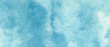 El fondo abstracto azul azul de la acuarela para los fondos de las texturas y las banderas de la web diseñan fotografía de archivo