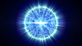 El fondo abstracto azul del movimiento, luces brillantes, energía agita en negro stock de ilustración