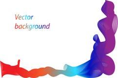 El fondo abstracto con el movimiento agita, las líneas coloridas del arco iris de la curva Imágenes de archivo libres de regalías