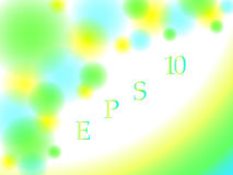 El fondo abstracto con los círculos borrosos y las líneas se ponen verde, amarillo y los colores del azul Fotos de archivo libres de regalías