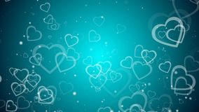El fondo abstracto con muchos corazones, 3d rinde el contexto generado por ordenador para el día de San Valentín libre illustration