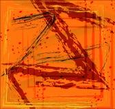 El fondo abstracto con Z forma en estilo del grunge stock de ilustración