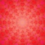 El fondo abstracto de corazones arregló en un círculo stock de ilustración