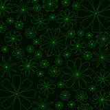 Fondo abstracto de la flor que brilla intensamente ilustración del vector