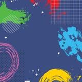 El fondo abstracto de la historieta con colores brillantes salpica bandera ilustración del vector