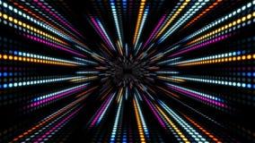 El fondo abstracto de la tecnología con la cámara lenta de la animación de la luz raya rosa azul del círculo del punto stock de ilustración